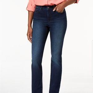 CHARTER CLUB dark wash straight denim blue jeans